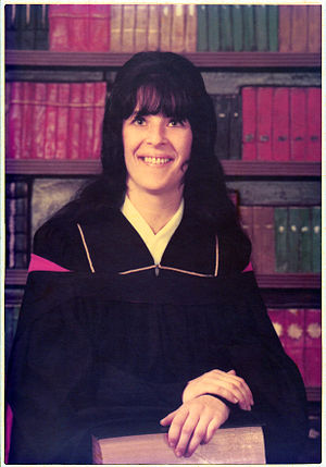 Mary Steinhauser - Mary Steinhauser graduating from the University of British Columbia in 1973.