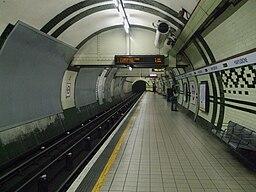 Marylebone tube stn northbound look south
