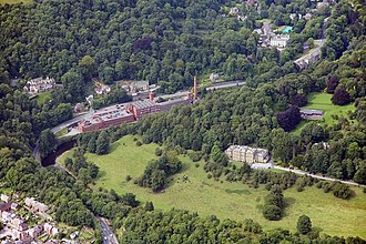 Masson Mill - Image: Masson Mills and Willersley Castle, Cromford geograph.org.uk 1194578
