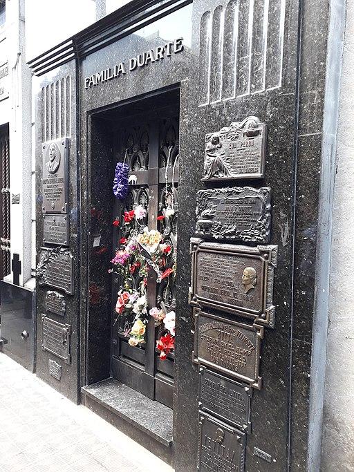 Mausoleo de la Familia Duarte, Cementerio de La Recoleta, Buenos Aires 20181103 133509