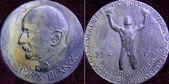 Max Planck Medal - Max Planck medal 1943