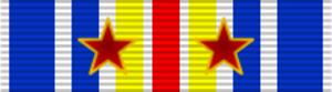 Hélie de Saint Marc - Image: Medaille (Insigne) des Blesses Militaires ribbon avec deux blessures