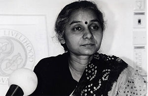 Medha Patkar - Medha Patkar at the Right Livelihood Award foundation.