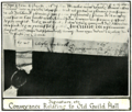 Mediaeval leicester billson f064 Guildhall Conveyance document.png