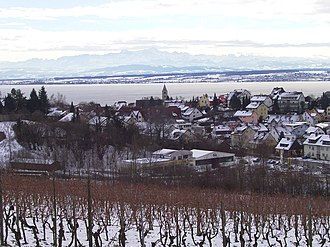 Meersburg - Vineyards, Meersburg, Lake Constance and Alps