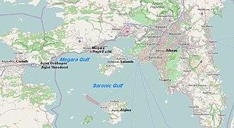 Megara Gulf - Megara Gulf in the map