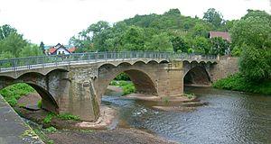 North Palatine Uplands - Bridge over the Glan in Meisenheim