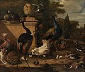 Melchior d' Hondecoeter - Hen Run at a Manor - KMSsp583 - Statens Museum for Kunst.jpg