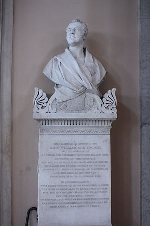 Richard Goodwin Keats - Memorial to Admiral Keats, Greenwich Hospital Chapel