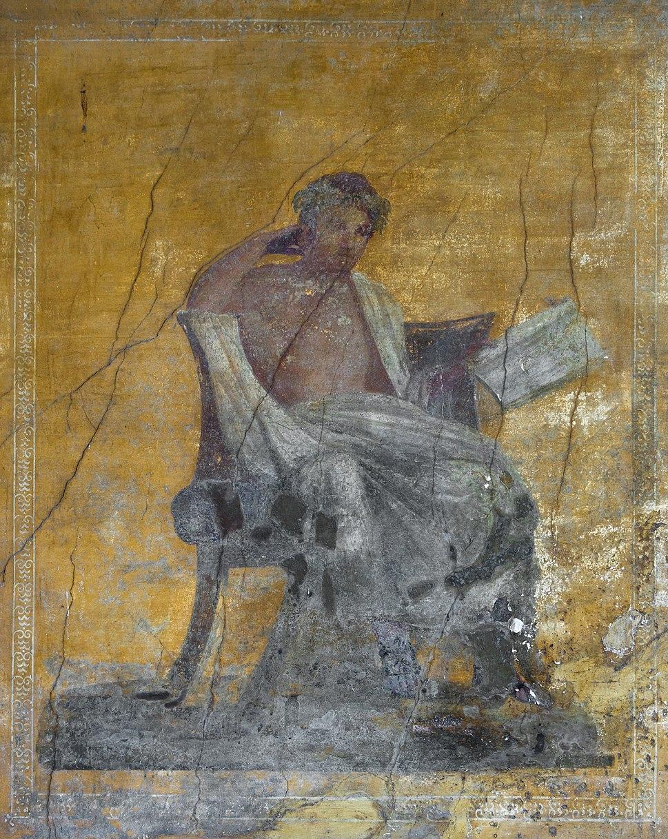 Menander fresco Pompeii Italy