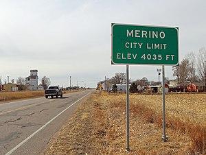 Merino, Colorado - Platte Street in Merino.