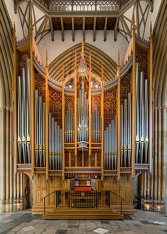 Merton College Chapel - The chapel organ