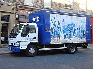 Metro (British newspaper) - A Metro delivery van