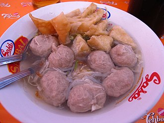 Chinese Indonesian cuisine - Bakso meatballs