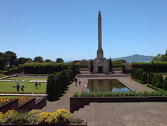 Bastion Point - Grave and memorial near Bastion Point.