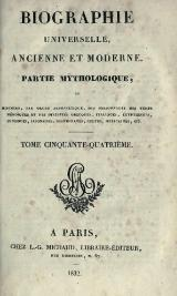 Michaud - Biographie universelle ancienne et moderne - 1811 - Tome 54.djvu