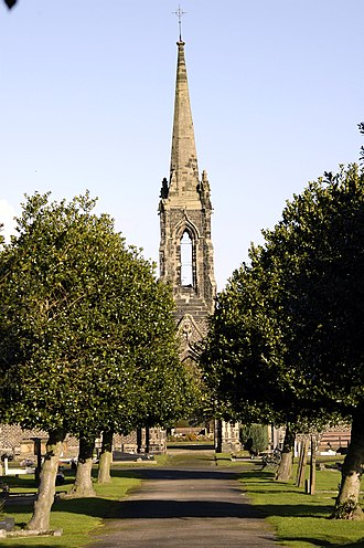 Middlewich - Middlewich cemetery showing the chapel