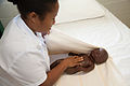 Midwives training at Pacific Adventist University PAU, outskirts of Port Moresby, PNG. (10702686153).jpg