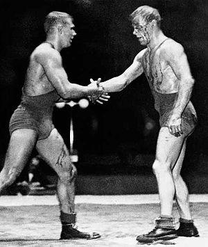 Gösta Andersson (wrestler) - Miklós Szilvási vs Gösta Andersson at the 1948 Olympics
