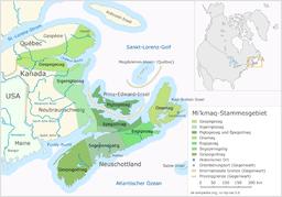 Mikmaq-Stammesgebiet