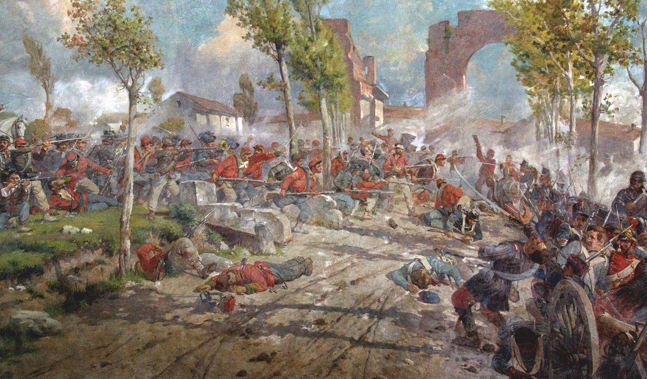 Giuseppe Vizzotto Alberti- La battaglia del Volturno (particolare)