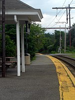 Millington station, one of three train stations in Long Hill Township.