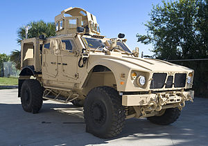 Combat vehicle - An M-ATV, a mine protected vehicle