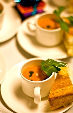 Mini grilled cheese demi tasse soup
