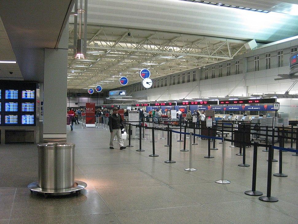 Minneapolis-St. Paul International Airport departures area