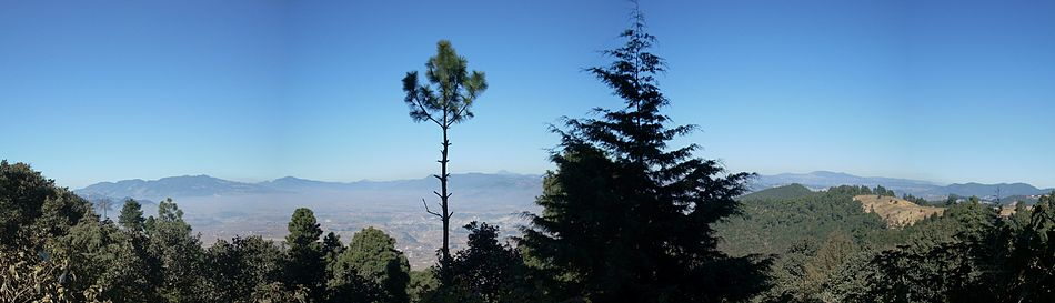 A panorama of the Sierra Madre in Guatemala.