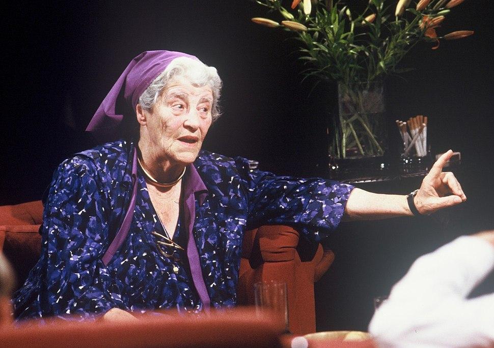 "Miriam Rothschild appearing on ""After Dark"", 2 July 1988 - alternative"