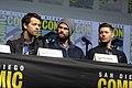 Misha Collins, Jared Padalecki & Jensen Ackles (42897481265).jpg