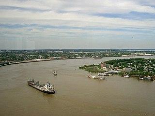 """Foto """"Der Mississipi bei New Orleans"""""""
