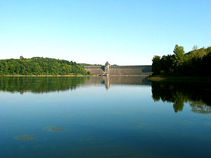 Möhne Reservoir - The dam of the reservoir