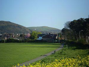 Moelfre Isaf - Moelfre Isaf from Pentre Mawr park, Abergele