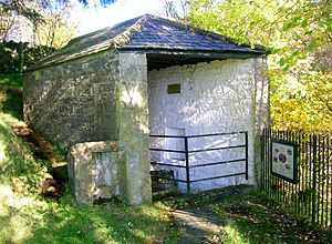 Moffat - The old sulphurous well building.