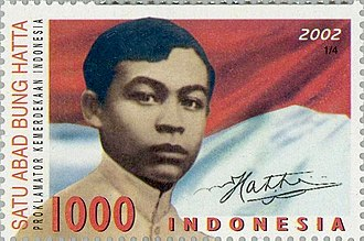 Mohammad Hatta - Hatta on a 2002 Indonesian postage stamp