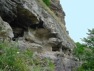 Rezina District - Tipova cave monastery (10th-12th century)