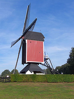 Monumental windmill in Someren