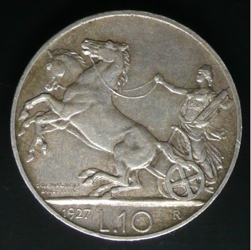 6e0083c61c Moneta del Regno d'Italia da 10 lire 'Biga' del ...