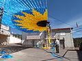 Montagem do girassol gigante 2014 em Pereiro de Mação.JPG