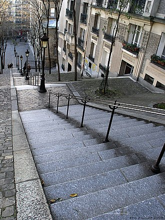 The King and the Mockingbird - The long staircases in the film recall the walk down from Montmartre