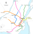 Montreal Metro Geographical Map Pink Line.png