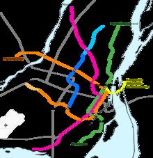 Stcum Metro Map.Pink Line Montreal Metro Wikipedia