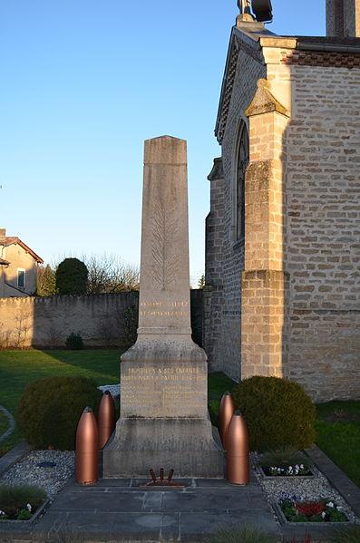 Monument aux morts de Toussieux.