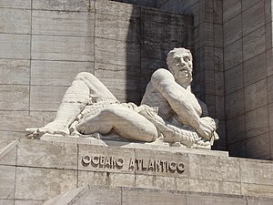 Alfredo Bigatti - Recumbent figure of Atlantic Ocean, National Flag Memorial