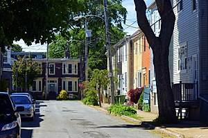 North End, Halifax - Moran Street, a typical North End residential side street.