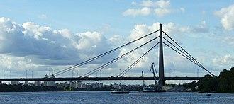Bridges in Kiev - The Pivnichnyi Bridge.
