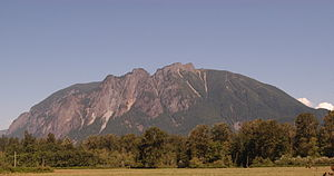 Washington State Route 202 - Mount Si, as it looks from SR 202 near North Bend