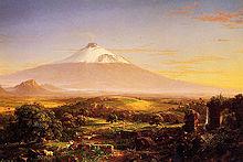 Dipinto di Thomas Cole del 1842, evidente l'aspetto differente del vulcano rispetto a quello recente